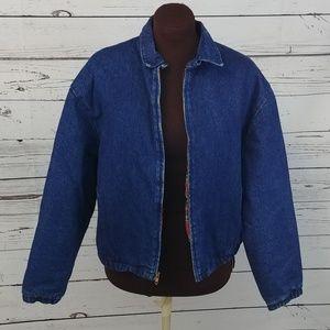 Vintage L.L. Bean Lined Denim Jean Jacket